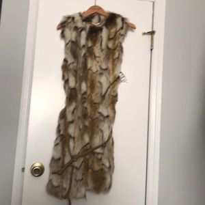 BRAND NEW faux fur vest - tickets still attached